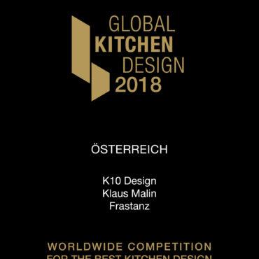 K10 gewinnt den Global Kitchen Award 2018